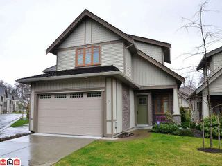 Photo 1: 42 3109 161ST Street in Surrey: Grandview Surrey Condo for sale (South Surrey White Rock)  : MLS®# F1206940