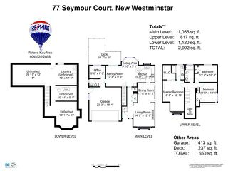 Photo 20: 77 SEYMOUR Court in New Westminster: Fraserview NW House for sale : MLS®# V1138552