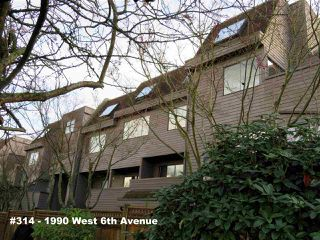 "Photo 1: 314 1990 W 6TH Avenue in Vancouver: Kitsilano Condo for sale in ""MAPLEVIEW PLACE"" (Vancouver West)  : MLS®# R2123367"
