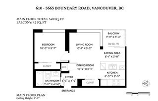 Photo 19: 610 5665 BOUNDARY ROAD in Vancouver: Collingwood VE Condo for sale (Vancouver East)  : MLS®# R2454965