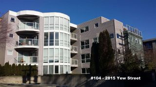 "Photo 1: 104 2815 YEW Street in Vancouver: Kitsilano Condo for sale in ""2815 YEW STREET"" (Vancouver West)  : MLS®# R2136894"