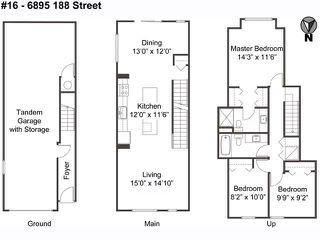 "Photo 3: 16 6895 188 Street in Surrey: Clayton Townhouse for sale in ""Bella Vita"" (Cloverdale)  : MLS®# R2338484"