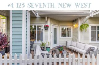 """Photo 1: 4 123 SEVENTH Street in New Westminster: Uptown NW Townhouse for sale in """"Royal City Terrace"""" : MLS®# R2498360"""