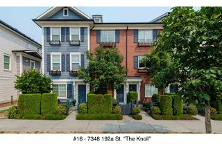 "Photo 1: 16 7348 192A Street in Surrey: Clayton Townhouse for sale in ""The Knoll"" (Cloverdale)  : MLS®# R2195442"