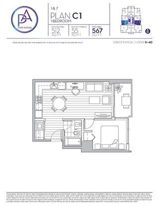"""Photo 4: 701 13696 100 Avenue in Surrey: Whalley Condo for sale in """"PARK AVENUE WEST"""" (North Surrey)  : MLS®# R2301314"""