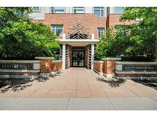Photo 1: 219 2280 WESBROOK Mall in Vancouver: University VW Condo for sale (Vancouver West)  : MLS®# V1068936