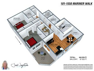 """Photo 10: 101 1550 MARINER Walk in Vancouver: False Creek Condo for sale in """"MARINER POINT"""" (Vancouver West)  : MLS®# V976624"""
