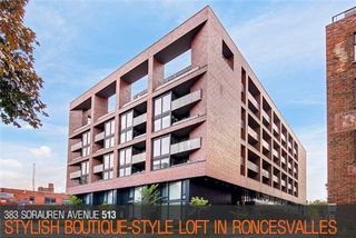 Photo 1: 383 Sorauren Ave Unit #513 in Toronto: Roncesvalles Condo for sale (Toronto W01)  : MLS®# W3911150