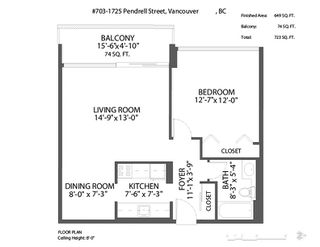 """Photo 15: 703 1725 PENDRELL Street in Vancouver: West End VW Condo for sale in """"STRATFORD PLACE"""" (Vancouver West)  : MLS®# R2378062"""