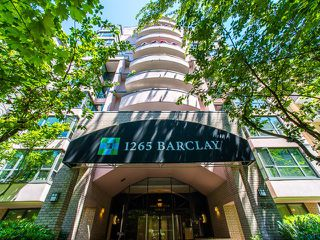 Photo 1: 302 1265 BARCLAY STREET in Vancouver: West End VW Condo for sale (Vancouver West)  : MLS®# R2184517