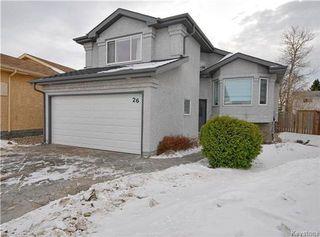 Photo 1: 26 Francois Muller Place in Winnipeg: Windsor Park Residential for sale (2G)  : MLS®# 1803008