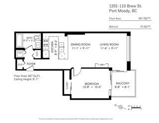 "Photo 24: 1201 110 BREW Street in Port Moody: Port Moody Centre Condo for sale in ""Aria 1"" : MLS®# R2470592"