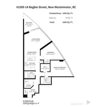 "Photo 15: 1509 14 BEGBIE Street in New Westminster: Quay Condo for sale in ""INTERURBAN"" : MLS®# R2202721"