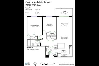 Photo 20: 205 2320 TRINITY Street in Vancouver: Hastings Condo for sale (Vancouver East)  : MLS®# R2363145