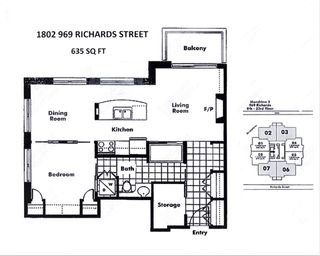"""Photo 2: 1802 969 RICHARDS Street in Vancouver: Downtown VW Condo for sale in """"MONDRIAN 2"""" (Vancouver West)  : MLS®# R2512496"""