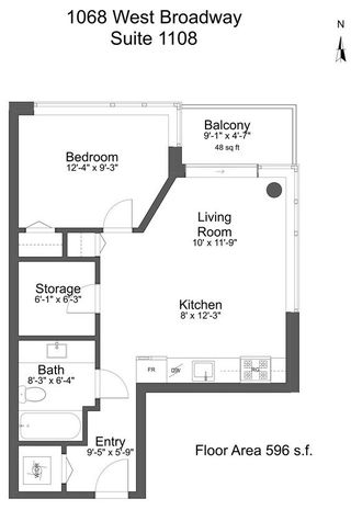 """Photo 20: 1108 1068 W BROADWAY in Vancouver: Fairview VW Condo for sale in """"The Zone"""" (Vancouver West)  : MLS®# R2257240"""