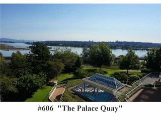 "Photo 1: 606 71 JAMIESON Court in New Westminster: Fraserview NW Condo for sale in ""THE PALACE QUAY"" : MLS®# V1085293"