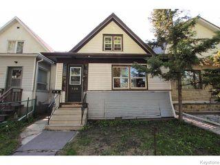 Photo 1: 738 Home Street in Winnipeg: West End / Wolseley Residential for sale (West Winnipeg)  : MLS®# 1613426