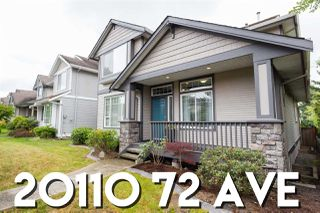 "Photo 1: 20110 72 Avenue in Langley: Willoughby Heights House for sale in ""Parkside"" : MLS®# R2383881"