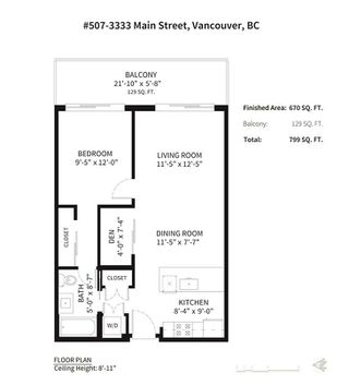 "Photo 12: 507 3333 MAIN Street in Vancouver: Main Condo for sale in ""3333 Main"" (Vancouver East)  : MLS®# R2211173"