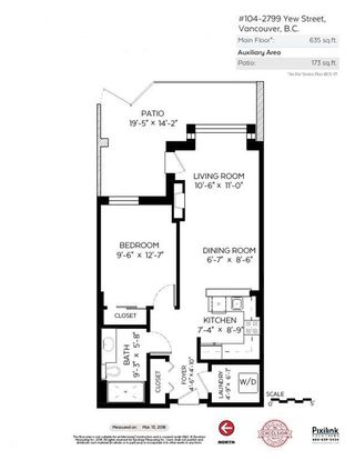 """Photo 17: 104 2799 YEW Street in Vancouver: Kitsilano Condo for sale in """"Tapestry at Arbutus Walk (O'Keefe)"""" (Vancouver West)  : MLS®# R2247613"""