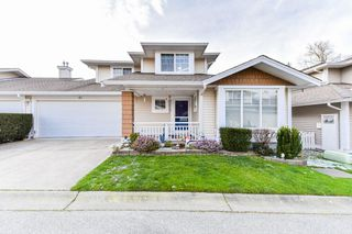 "Photo 1: 61 6885 184 Street in Surrey: Cloverdale BC Townhouse for sale in ""CREEKSIDE"" (Cloverdale)  : MLS®# R2339507"