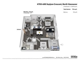 "Photo 18: 705 680 SEYLYNN Crescent in North Vancouver: Northlands Condo for sale in ""Compass at Seylynn"" : MLS®# R2359687"