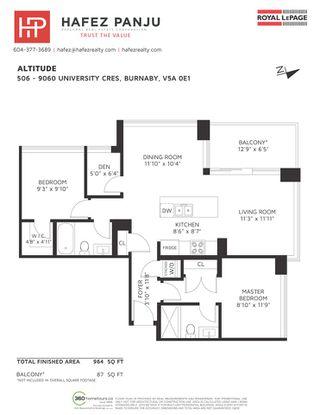 "Photo 27: 506 9060 UNIVERSITY Crescent in Burnaby: Simon Fraser Univer. Condo for sale in ""ALTITUDE"" (Burnaby North)  : MLS®# R2455236"