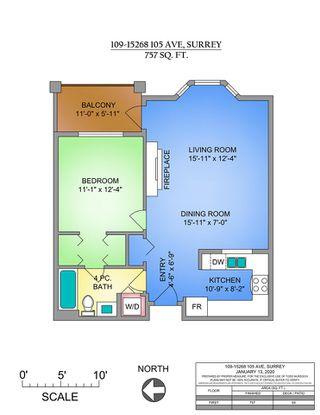 """Photo 14: 109 15268 105 Avenue in Surrey: Guildford Condo for sale in """"GEORGIAN GARDENS"""" (North Surrey)  : MLS®# R2427829"""