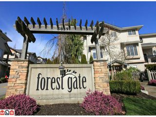 "Photo 1: 68 5839 PANORAMA Drive in Surrey: Sullivan Station Townhouse for sale in ""Forest Gate"" : MLS®# F1205000"