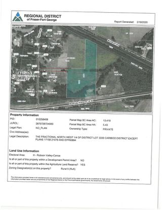 Photo 6: DL 3330 16 Highway in McBride: McBride - Town Land for sale (Robson Valley (Zone 81))  : MLS®# R2438514