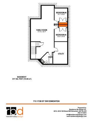 Photo 46: 713 173B Street in Edmonton: Zone 56 House for sale : MLS®# E4200985