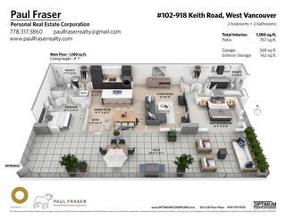 """Photo 10: 102 918 KEITH Road in West Vancouver: Park Royal Townhouse for sale in """"Evelyn - Cliffside II"""" : MLS®# R2466947"""
