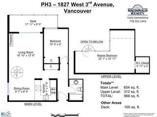 Photo 20: # PH3 1827 W 3RD AV in Vancouver: Kitsilano Condo for sale (Vancouver West)  : MLS®# V1098096