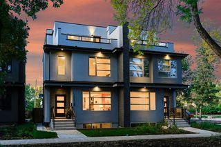 Photo 1: 10504 85 Avenue in Edmonton: Zone 15 House Half Duplex for sale : MLS®# E4173956