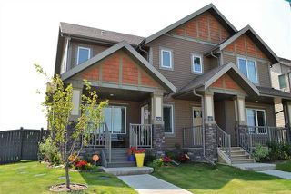 Photo 1: 145 HAWKS RIDGE BV NW: Edmonton House Half Duplex for sale : MLS®# E4123396