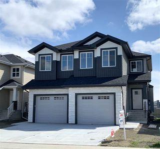 Photo 1: 17717 13 Avenue in Edmonton: Zone 56 House Half Duplex for sale : MLS®# E4194331