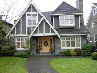 Main Photo: 4987 MARGUERITE Street in Vancouver West: Quilchena Home for sale ()  : MLS®# V865841