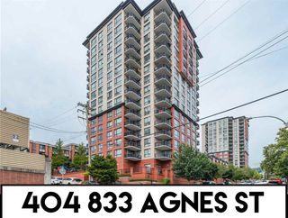 """Photo 1: 404 833 AGNES Street in New Westminster: Downtown NW Condo for sale in """"THE NEWS"""" : MLS®# R2487078"""
