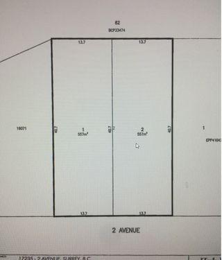 Main Photo: Lot 2- 17235 2 Avenue in Surrey: Pacific Douglas Land for sale (South Surrey White Rock)  : MLS®# R2142331