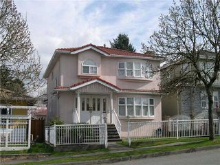 Photo 1: 4968 SOMERVILLE ST in Vancouver: Fraser VE House for sale (Vancouver East)  : MLS®# V999735
