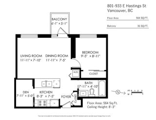 Photo 19: 801 933 E HASTINGS STREET in Vancouver: Strathcona Condo for sale (Vancouver East)  : MLS®# R2414988