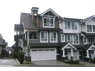 "Photo 1: 115 1460 SOUTHVIEW Street in Coquitlam: Burke Mountain Townhouse for sale in ""CEDAR CREEK"" : MLS®# V984770"