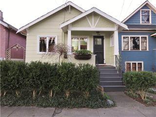 Photo 1: 1733 E 6TH AV in Vancouver: Grandview VE House for sale (Vancouver East)  : MLS®# V1102555