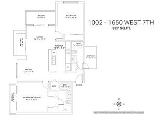 Photo 19: 1002 1650 W 7TH AVENUE in Vancouver: Fairview VW Condo for sale (Vancouver West)  : MLS®# R2022214