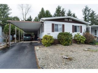 Photo 1: 329 1840 160TH STREET in Surrey: King George Corridor Manufactured Home for sale (South Surrey White Rock)  : MLS®# R2021528