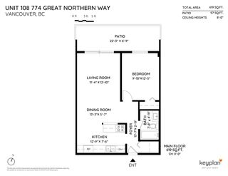 "Photo 13: 108 774 GREAT NORTHERN Way in Vancouver: Mount Pleasant VE Condo for sale in ""Pacific Terraces"" (Vancouver East)  : MLS®# R2411299"