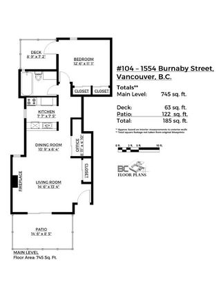 Photo 20: 104 1554 BURNABY STREET in Vancouver: West End VW Condo for sale (Vancouver West)  : MLS®# R2089481