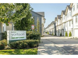 "Photo 1: 12 7665 209 Street in Langley: Willoughby Heights Townhouse for sale in ""Archstone"" : MLS®# R2508978"