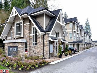 "Photo 1: 20 2955 156TH Street in Surrey: Grandview Surrey Townhouse for sale in ""Arista"" (South Surrey White Rock)  : MLS®# F1206068"